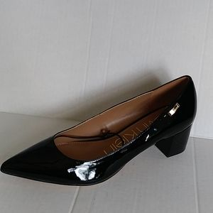 Calvin Klein block heel pumps